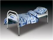 Металлические кровати с ДСП спинками для гостиниц по низким ценам.