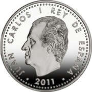 Юбилейные 10 Евро,  год России в Испания 2011г. серебро 925 пр.