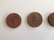 Медные монеты 1757 - 1773 годов