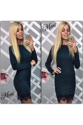 Оригинальное платье с гипюровой оборкой артикул - Артикул: Ам9258-1