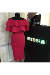 Элегантное платье с волонам артикул - Артикул: Ам9227-6
