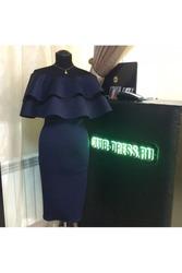 Элегантное платье с волонам артикул - Артикул: Ам9227-5