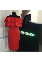 Элегантное платье с волонам артикул - Артикул: Ам9227-4