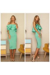 Элегантное платье с волонам артикул - Артикул: Ам9227-2